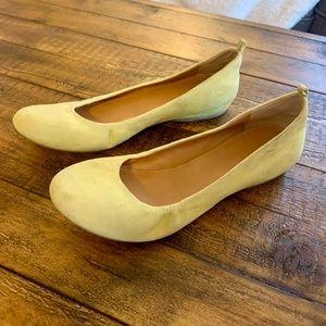 J. Crew Lime Yellow Ballet Flats Size 8